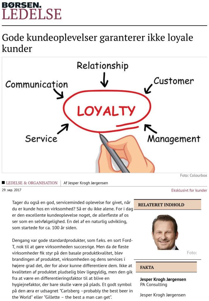 Børsen Ledelse: Gode kundeoplevelser garanterer ikke loyale kunder