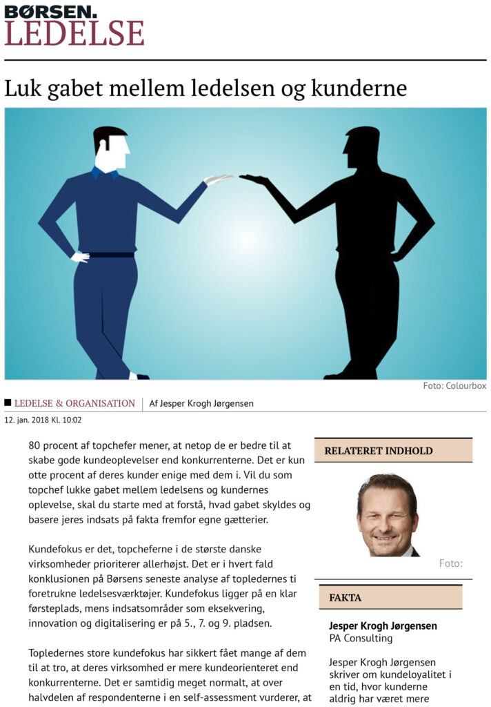 Børsen Ledelse: Luk gabet mellem ledelsen og kunderne